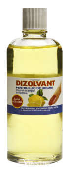 Nail polish remover (non-acetone) with essential oil of lemon [90 ml]